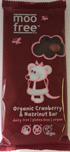 Moo Free Cranberry & Hazelnut Bar 100g - Vegan dated 8/17