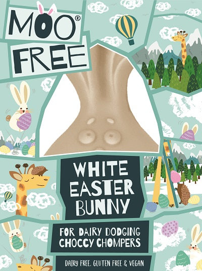Moo Free White Easter Bunny Egg- VEGAN - FRAGILE
