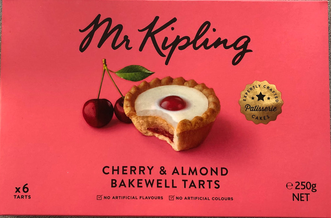 Mr Kipling Cherry & Almond Bakewell Tarts - FRAGILE- Thermal shipping required