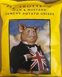 Mr Trotters Ham & Mustard Potato Crisps potato chips 40g