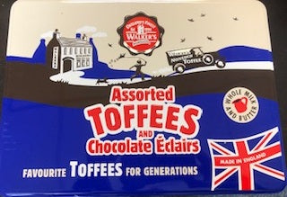 Walkers Nonsuch Assorted Toffees & Eclairs Tin 700g FRAGILE - Christmas