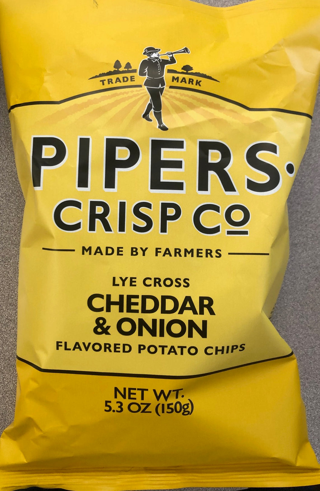 Pipers Crisps Cheddar & Onion 5.3oz Bag