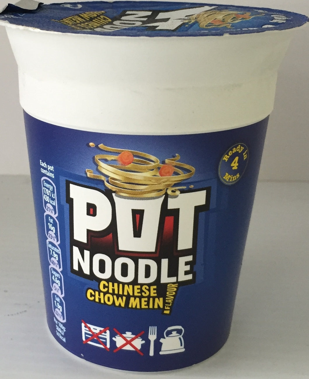 Pot Noodle Chinese Chow Mein  89g