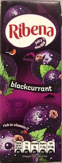 Ribena Blackcurrant Juice Box 250ml