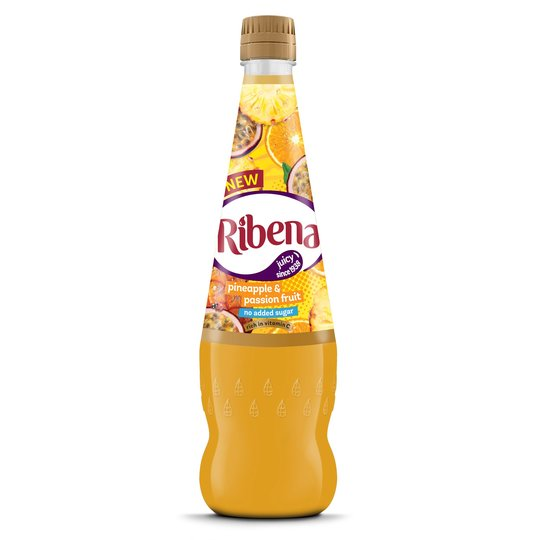 Ribena No Added Sugar Pineapple & Passionfruit 850ml
