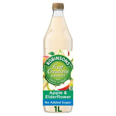 Robinson Fruit Creations Apple & Elderflower Barley 1 ltr FRAGILE