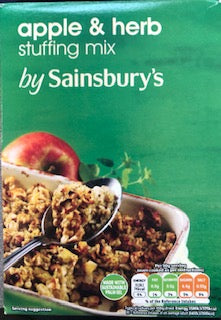 Sainsbury Apple & Herb Stuffing Mix 130g