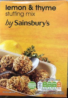 Sainsburys Lemon & Thyme Stuffing Mix 130g