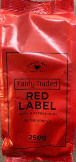 Sainsbury Fairly Traded Red Label Loose Leaf Tea 250g
