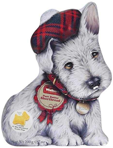 Walkers Shortbread White Wee Scottie Tin 200g # 1918 - Christmas