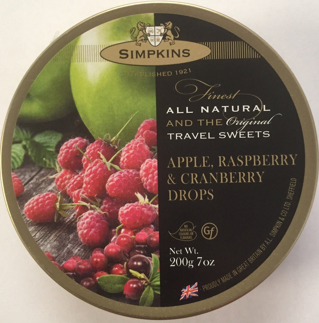 Simpkins Apple Raspberry and Cranberry Travel Sweets