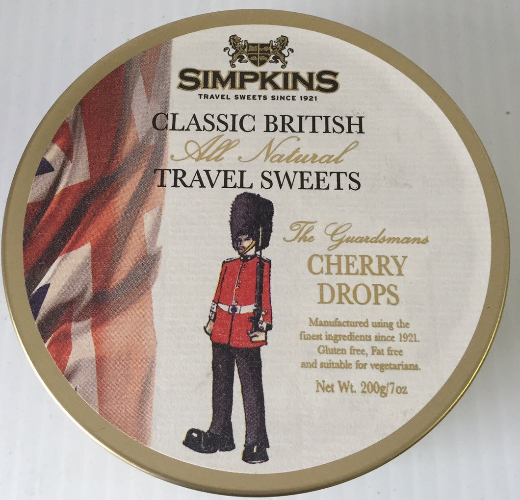 Simpkins Guardsman Cherry Fruit Drops Tin 200g