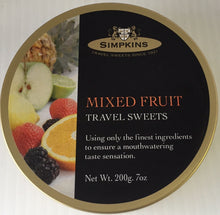Simpkins Mixed Fruits Travel sweets Tin