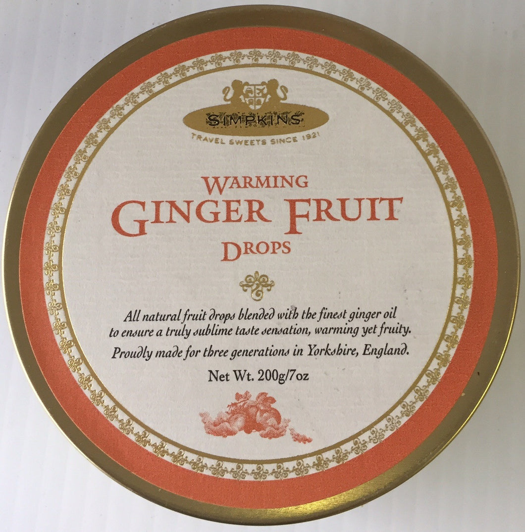 Simpkins Warming Ginger Fruit Drops 7oz