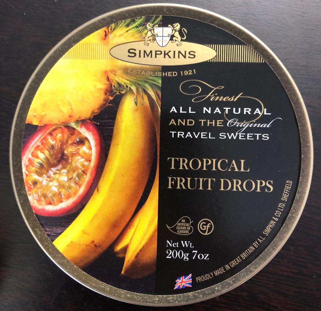 Simpkins Tropical Fruits travel sweets