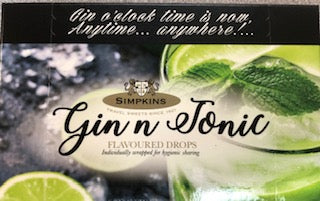 Simpkins Gin n Tonic Flavoured Drops Carton 4.2oz