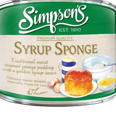 Simpsons Golden Syrup Sponge Pudding Tin 300g