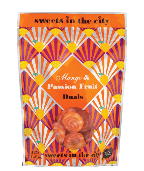 Sweets in the City Mango & Passionfruit Sweets 50g - Vegan
