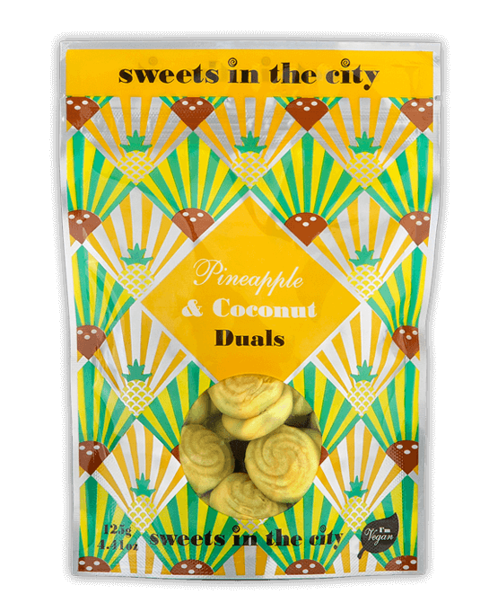Sweets in The City Pineapple & Coconut Dual sweets 50g - Vegan