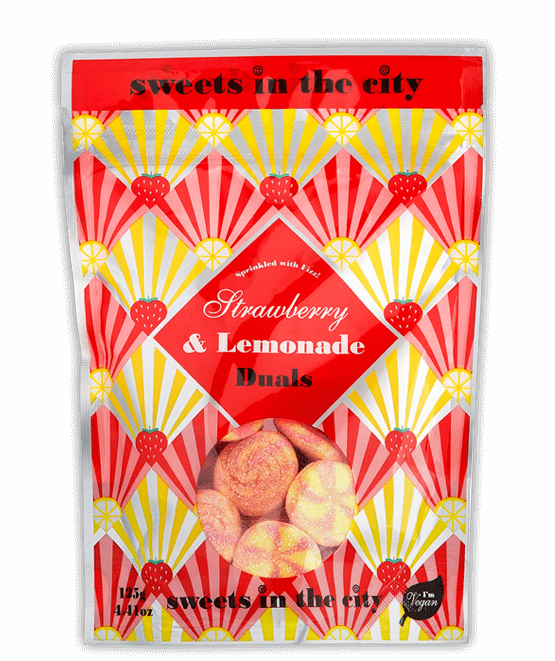Sweets in the City Strawberry & Lemon Dual Sweets 50g Vegan