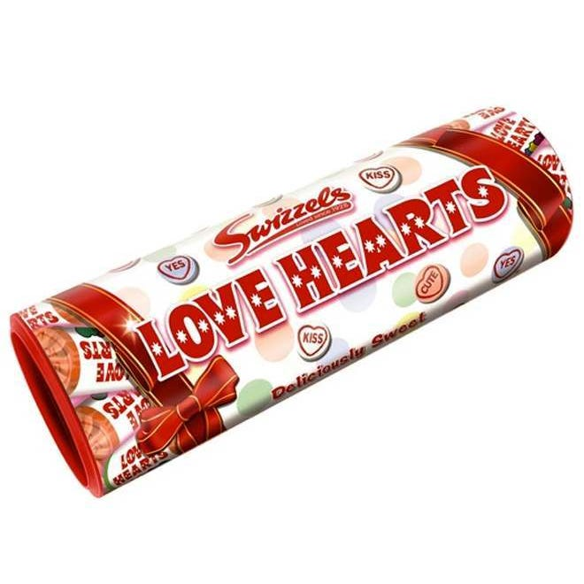 Swizzles Matlow Love Hearts Gift Tube 108g Christmas