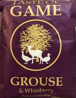Just Crisps Taste of Game Grouse & Whinberry Flavour Potato Chips 40g- Vegan