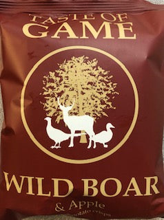 Just Crisps Taste of Game Wild Boar & Apple Flavour Potato Chips 150g LARGE