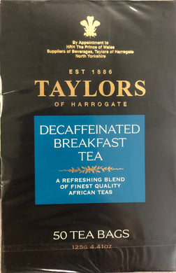 Taylors of Harrogate Decaffeinated Breakfast Teabags 50ct