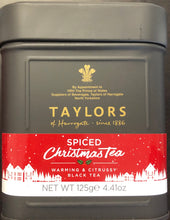 Taylors Of Harrogate Spiced Christmas Tea Loose Tin 200g - Christmas