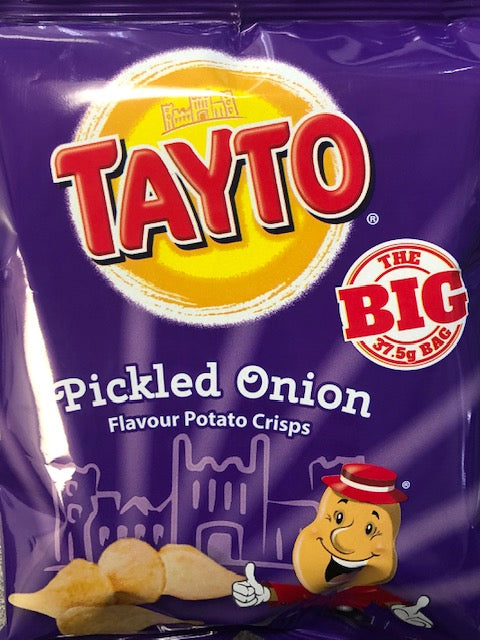 Tayto Pickled Onion Crisps x 6