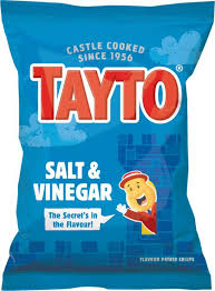 Tayto Salt & Vinegar Crisps Northern Ireland x 6