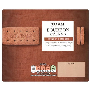 Tesco Bourbon Creams 296g