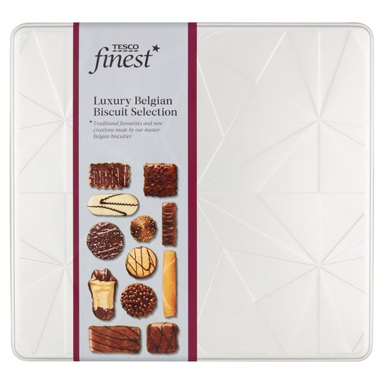 Tesco Finest Luxury Belgian Chocolate Biscuit Selection Tin 400g