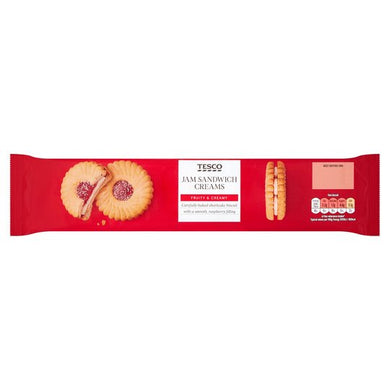 Tesco Jam Sandwich Cream Biscuits 150g