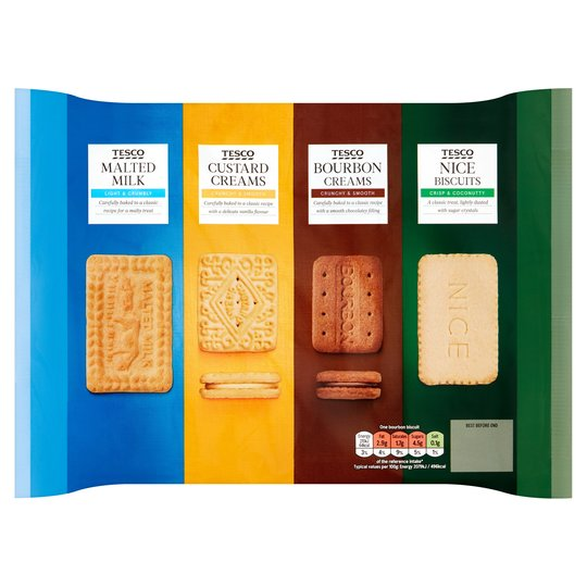 Tesco Variety Pack of Biscuits 700g