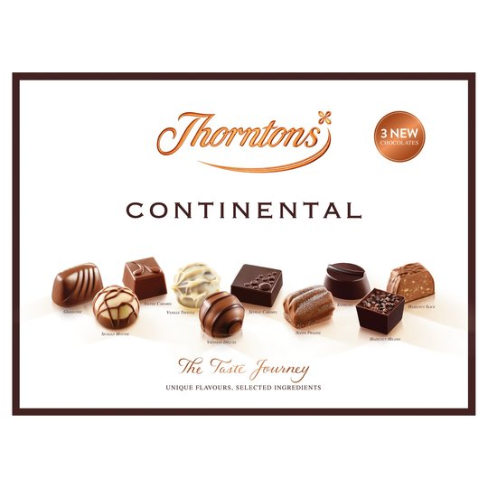 Thorntons Continental Chocolate Assortment Box 284g - Christmas
