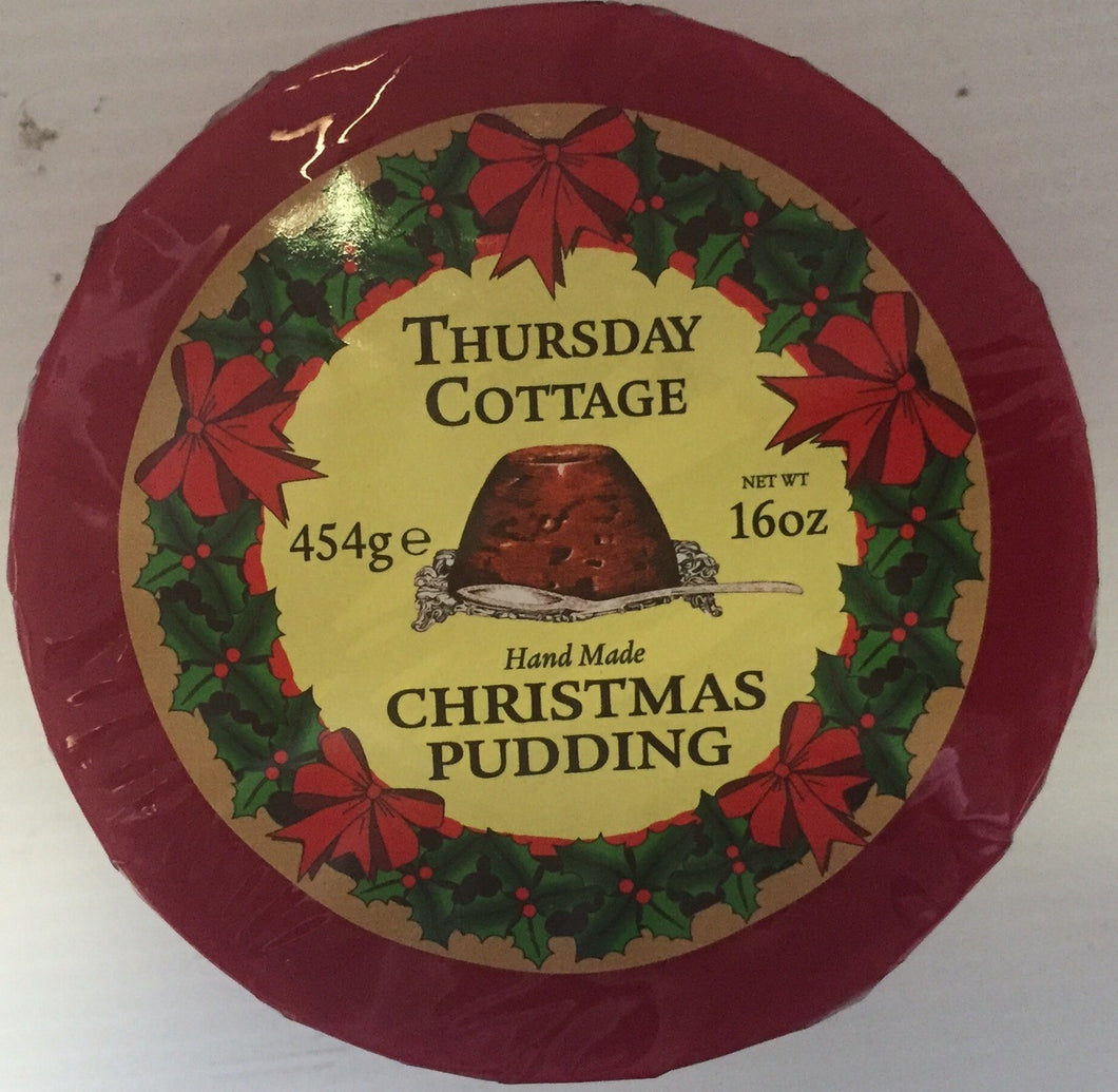 Christmas Pudding (plum) Cello 16oz  Thursday Cottage