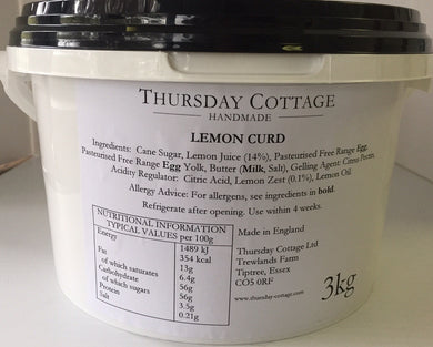 Thursday Cottage Lemon Curd Catering 3kg (6.6lb)