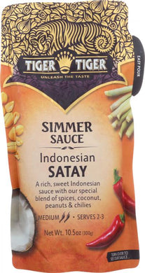 Tiger Tiger Indonesian Satay Simmer Sauce 10.5 oz Pouch