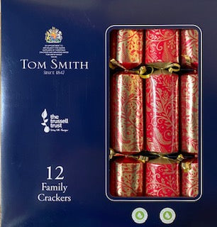 Tom Smith Christmas Crackers #1406 Red & Gold - Christmas