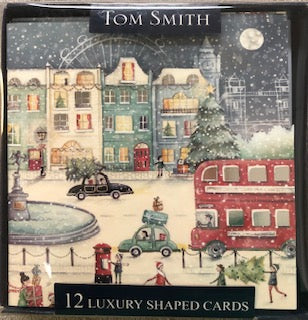 Tom Smith 12 Luxury Shaped Cards - Christmas