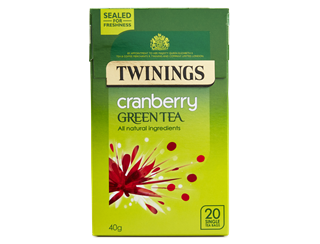 Twinings Green Tea with Cranberry 20's bags