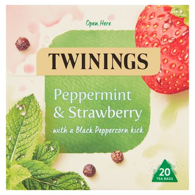 Twinings Peppermint & Strawberry with Black Peppercorn 20 Teabags