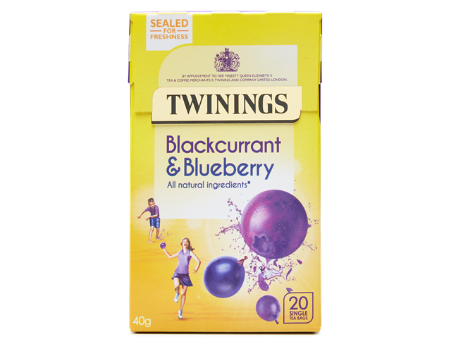Twining Blackcurrant & Blueberry Teabags 20ct