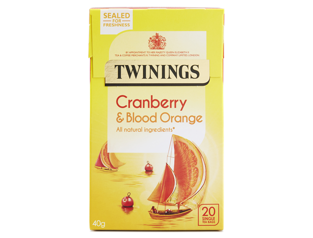 Twinings Cranberry and Blood Orange Teabags 20