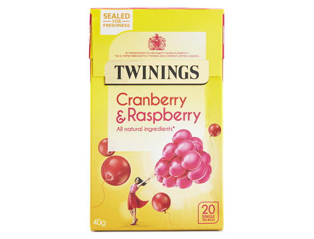 Twinings Cranberry & Raspberry Teabags 20ct
