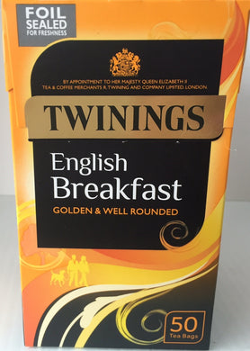 Twinings English Breakfast Teabags 50ct