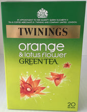Twinings Green Tea  Orange w/ Lotus Flower 20ct