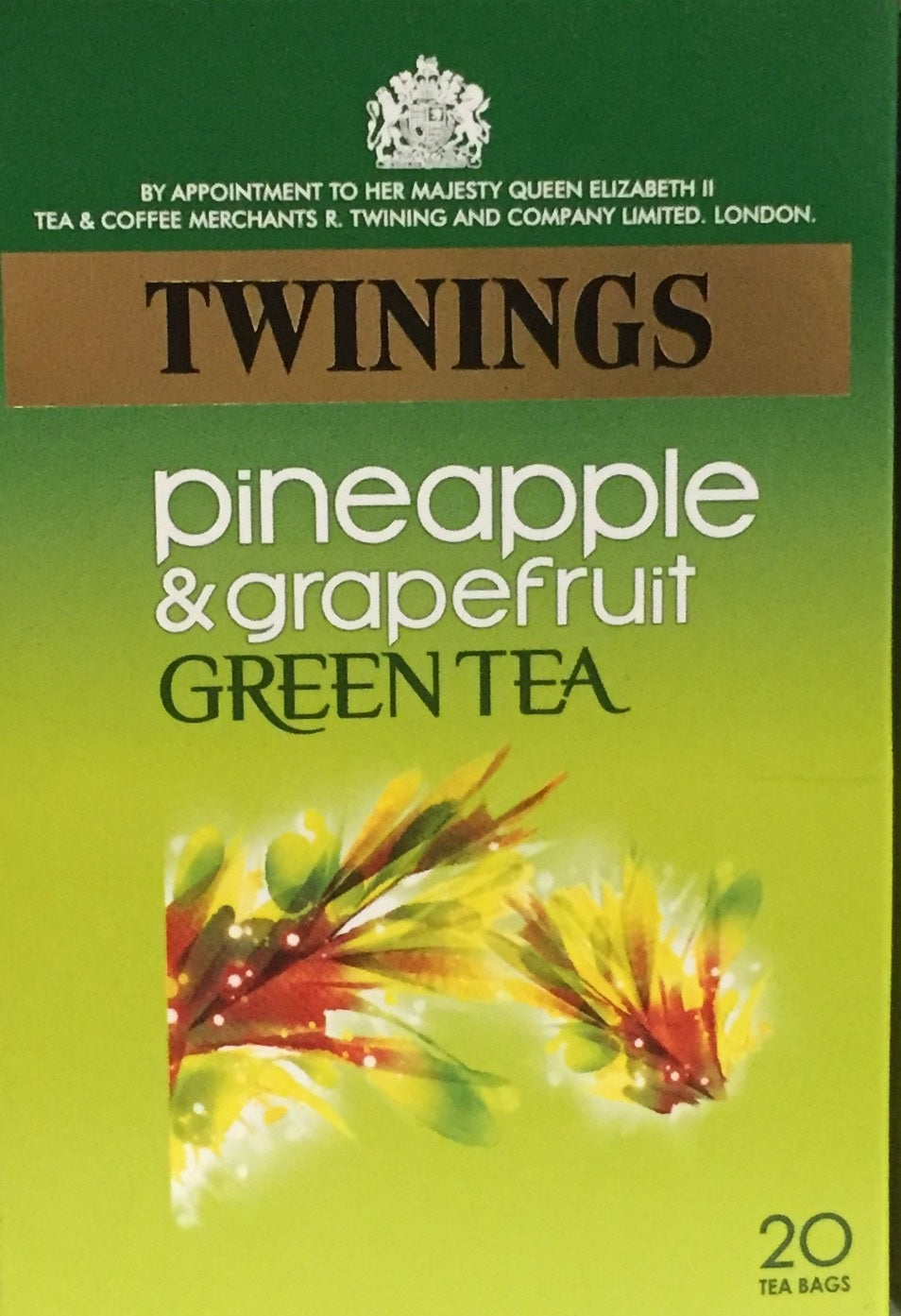 Twining Green Teabags Pineapple & Grapefruit 20 count