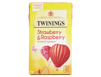 Twining Strawberry and Raspberry Teabags 20ct